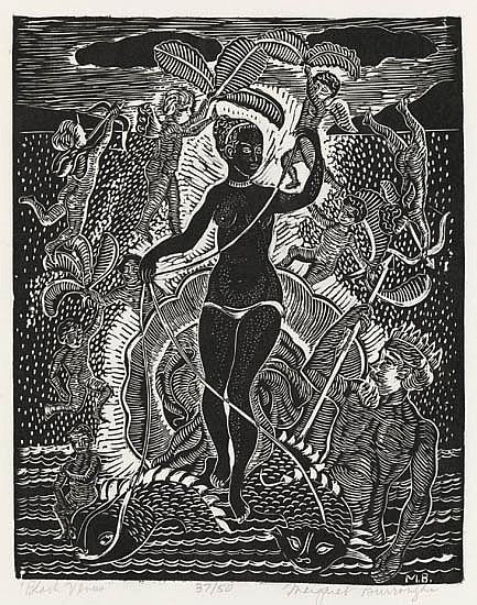 MARGARET BURROUGHS (1917 -   ) Black Venus.