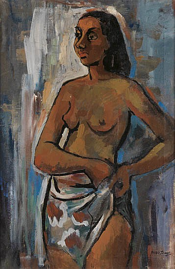 FREDERICK D. JONES (1914 - 2004) Untitled (Standing Female Nude).