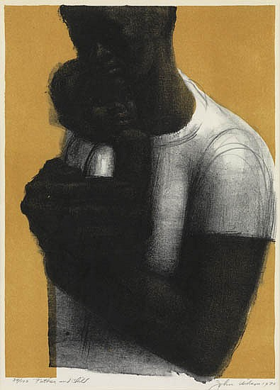 JOHN WILSON (1922 -   ) Father and Child.