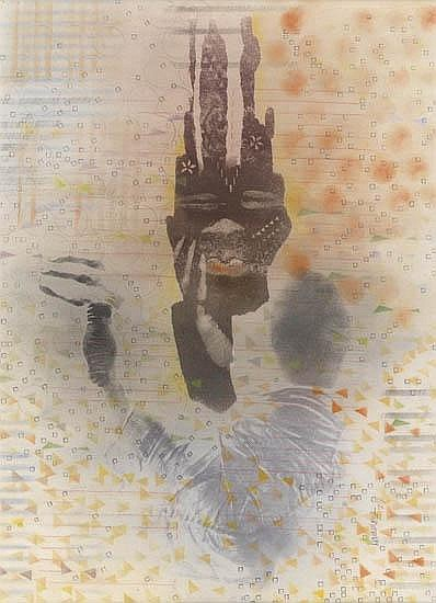 DAVID HAMMONS (1943 -   ) Untitled (Body Print).