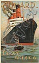ODIN ROSENVINGE (1880-1957). CUNARD / AQUITANIA. 1914. 39x25 inches, 101x63 cm. Turner & Dunnett, London.