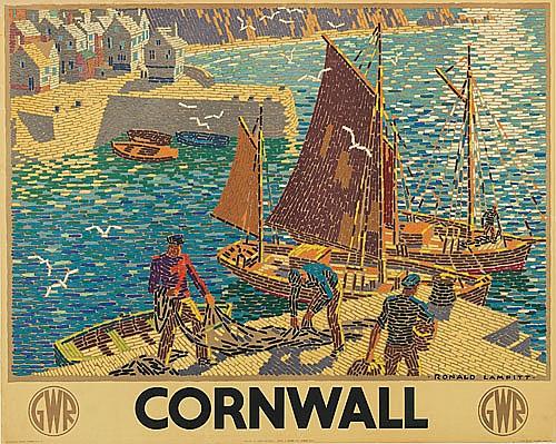 RONALD LAMPITT (DATES UNKNOWN). CORNWALL. 1936. 39x49 inches, 101x125 cm. J. Weiner, London.