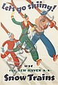 SASCHA MAURER (1897-1961). LET'S GO SKIING! 1936. 41x28 inches, 105x71 cm. McCandlish Lith, Philadelphia., Sascha A Maurer, Click for value