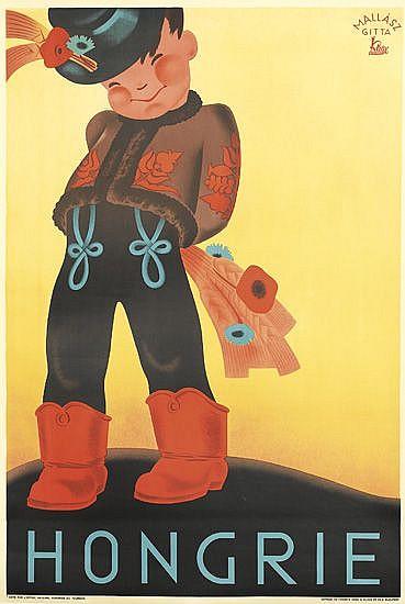 MALLASZ GITTA (1907-1992). HONGRIE. Circa 1935. 37x25 inches, 94x63 cm. Klosz, Budapest.