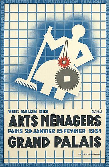 FRANCIS BERNARD (1900-1979). ARTS MÉNAGERS / GRAND PALAIS. 1931. 38x24 inches, 98x66 cm. Editions Paul-Martial, Paris.
