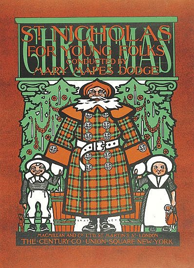 WILLIAM H. BRADLEY (1868-1962). ST. NICHOLAS FOR YOUNG FOLKS. Cover for the Christmas Number, December 1899. 19x14 inches, 49x35 cm. Ma