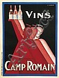 CLAUDE GADOUD (1905-1991). VINS / CAMP ROMAIN. 63x47 inches, 160x119 cm. Camis, Paris., C. Gadoud, Click for value