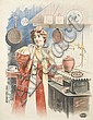 FRANCISCO TAMAGNO (1851-1933). [WOMAN AT STOVE.] 49x38 inches, 125x96 cm. Camis, Paris., Francisco Tamagno, Click for value