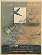 GEORGES VILLA (1883-1965). L'AVION. 1932. 31x23 inches, 79x58 cm., Georges Villa, Click for value