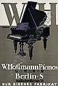 POSTER: KARL SCHULPIG (1884-1948) W. HOFFMANN PIANOS. 1912. 27x18 inches. Adolf Simmel, Berlin., Karl Schulpig, Click for value