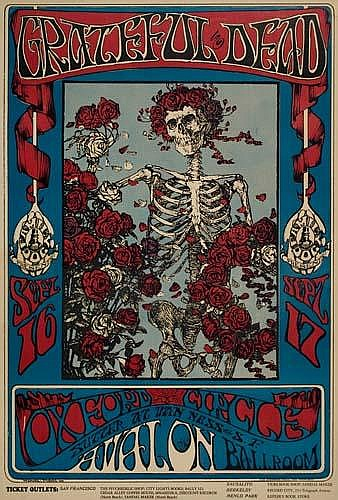 POSTER: STANLEY MOUSE (1940-) GRATEFUL DEAD/AVAL