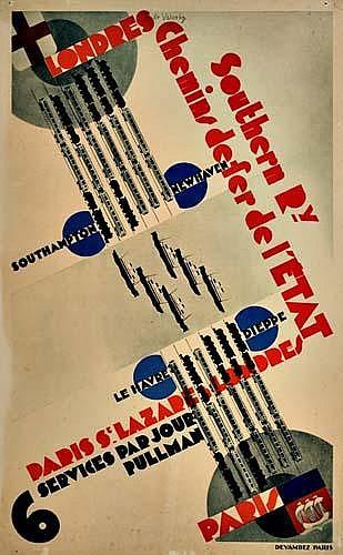 POSTER: ROGER DE VALERIO (1896-1951) LONDRES /