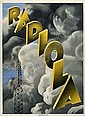 POSTER: MAX PONTY (1904-1972) RADIOLA. 1928. 61x45 inches. Hachard  &  Cie.