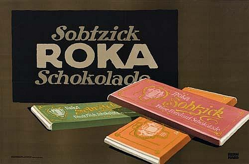 POSTER: LUCIAN BERNHARD (1883-1972) SOBTZICK ROKA. 1912. 23x35 inches. Hollerbaum  &  Schmidt, Berlin.