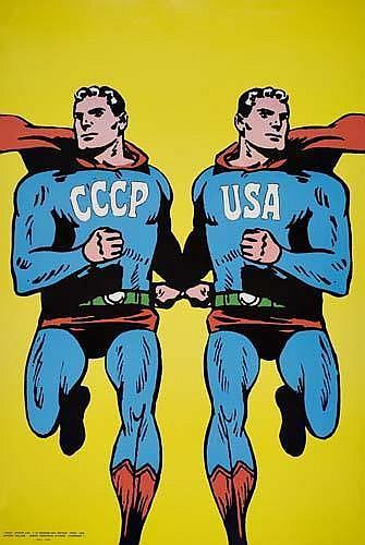 POSTER: ROMAN CIESLEWICZ (1930-1996) CCCP / USA. 1968. 21x32 inches. Serg, Paris.