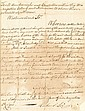 (SLAVERY AND ABOLITION--COLONIAL VIRGINIA.) LEE, RICHARD HENRY. Autograph Document Signed, a search warrant for five runaways.