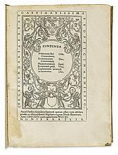 ARISTOTLE. Politicorum libri octo.  1511