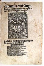 AUGUSTINUS, AURELIUS, Saint. Opuscula.  Part 1 (of 2).  1513