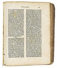BIBLE IN SPANISH.  Biblia en Lengua Española.  1553.  The Ferrara Bible:   Genesis-Hiob only, lacking title and 98 other leaves.