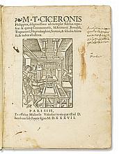 CICERO, MARCUS TULLIUS. Philippicae, diligentissime ad exemplar fidelius repositae.  1537