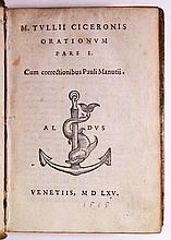 CICERO, MARCUS TULLIUS. Orationum pars I.  Vol. 1 (of 3).  1565