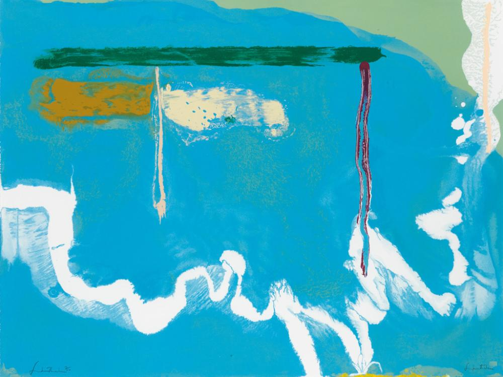 HELEN FRANKENTHALER Skywriting.