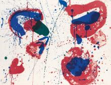 SAM FRANCIS Hurrah for the Red, White and Blue (Variant I).