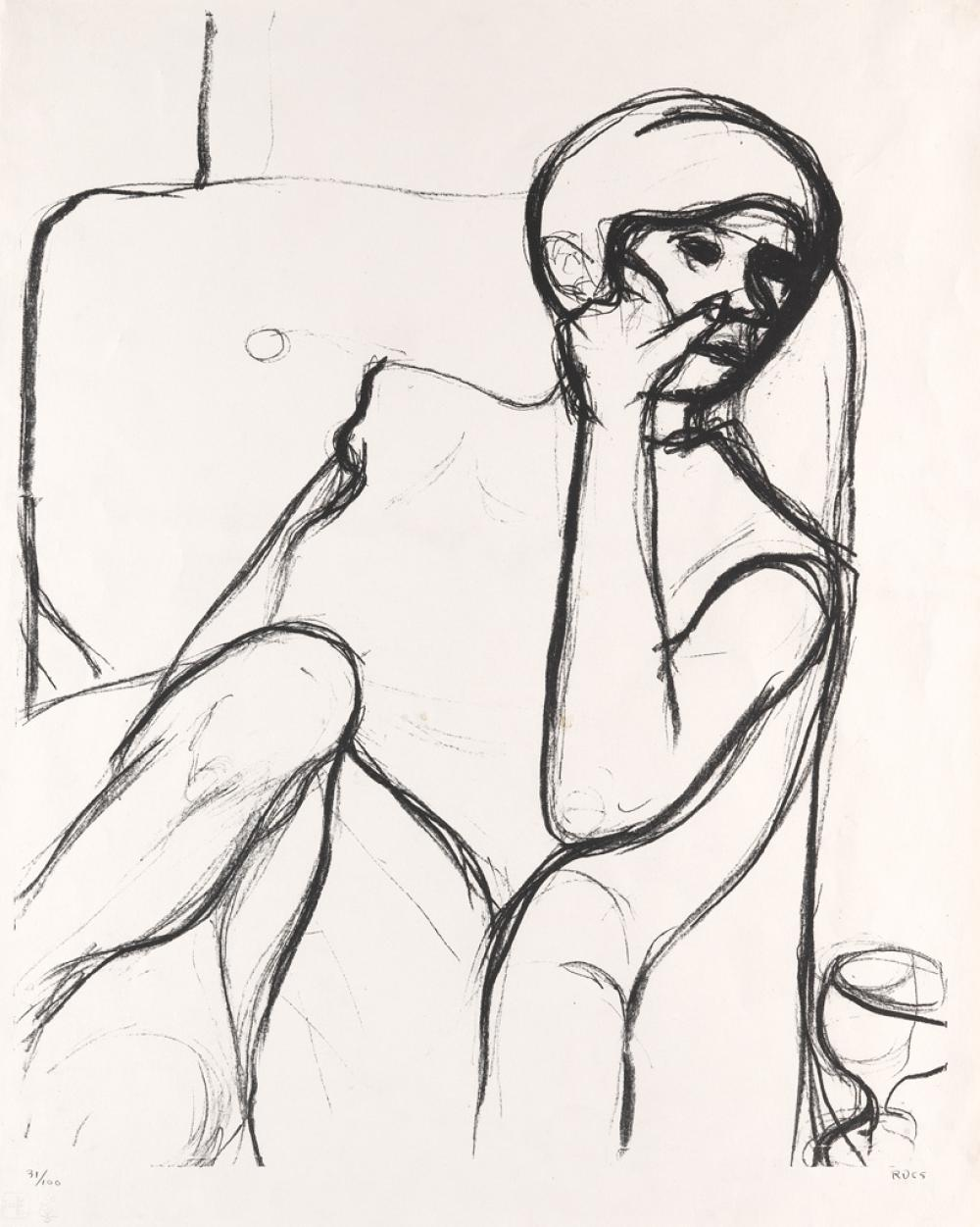 RICHARD DIEBENKORN Woman Seated in an Armchair.