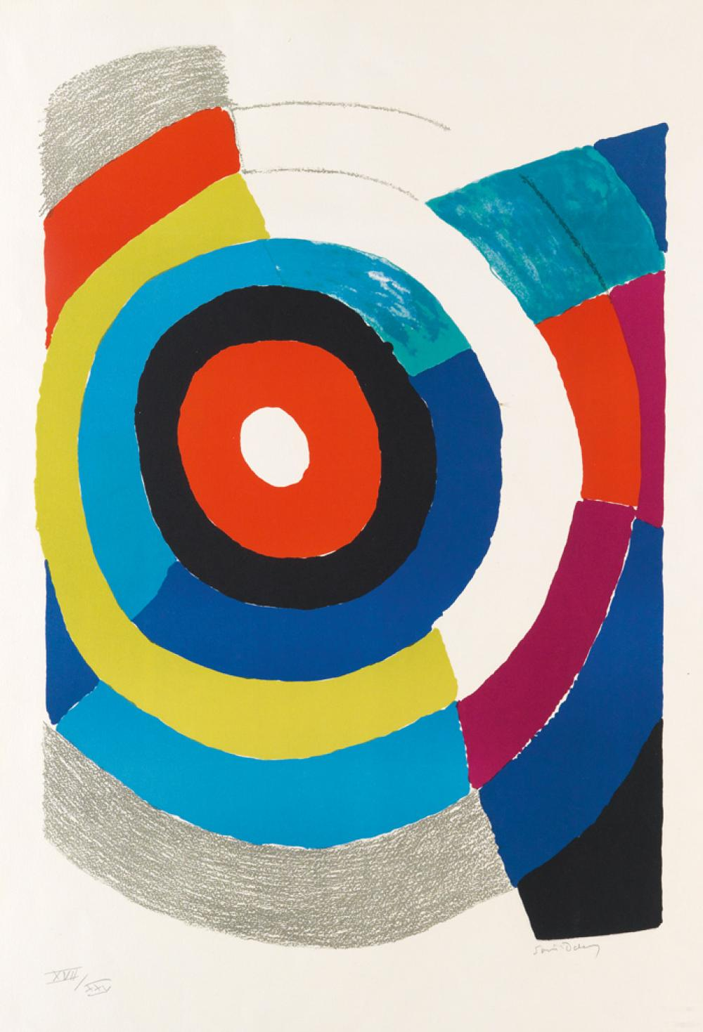SONIA DELAUNAY Composition Concentrique.