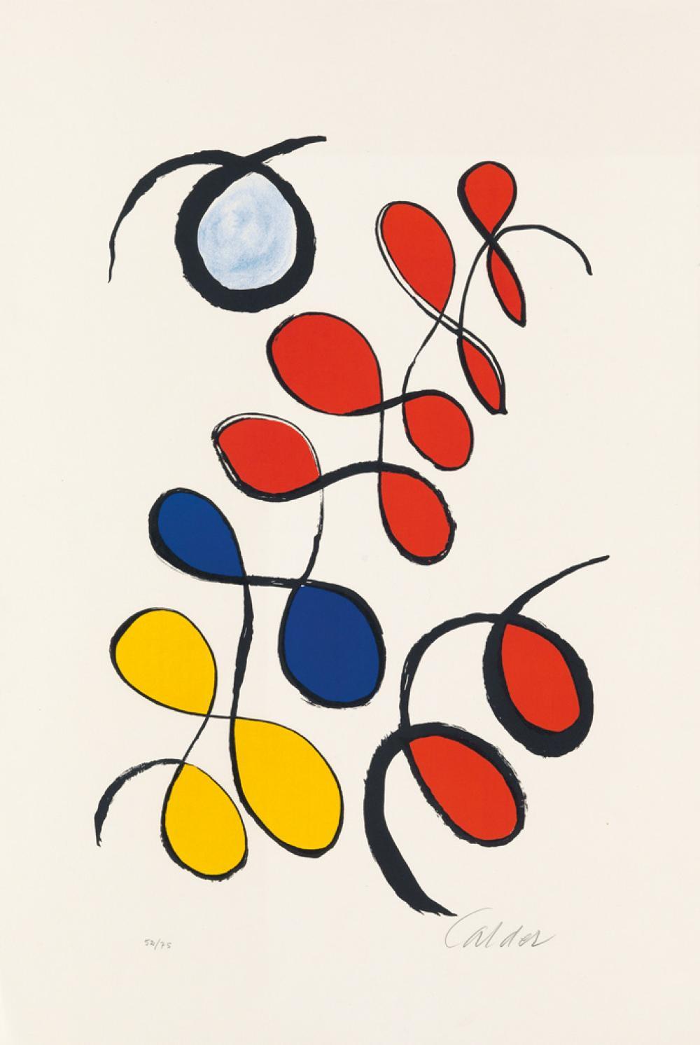 ALEXANDER CALDER Boules de couleurs.