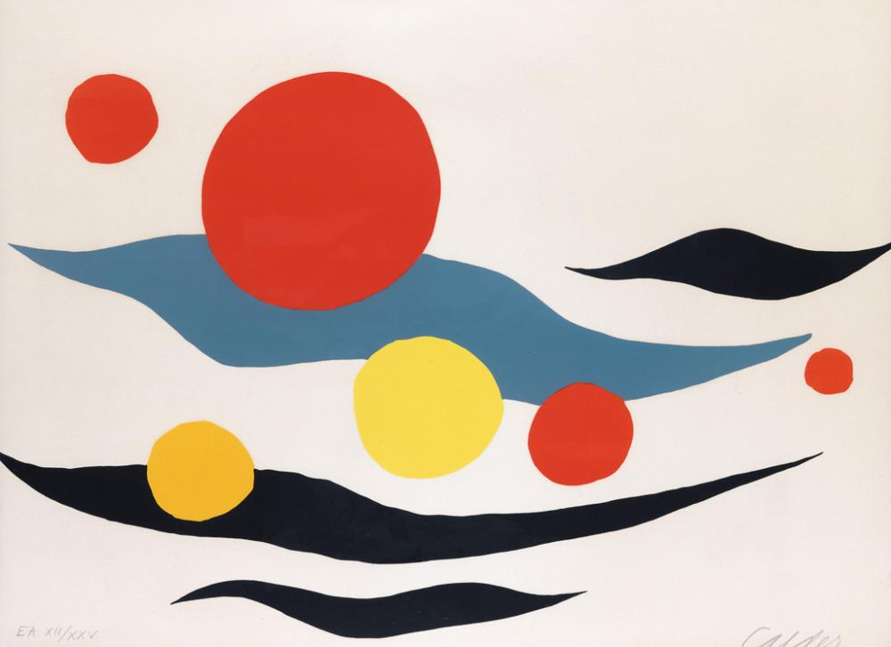 ALEXANDER CALDER Composition with Clouds and Spheres.
