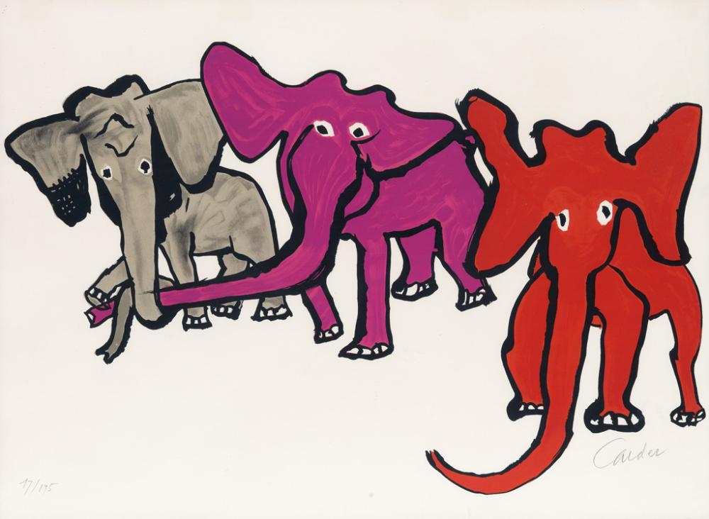 ALEXANDER CALDER Three Elephants.
