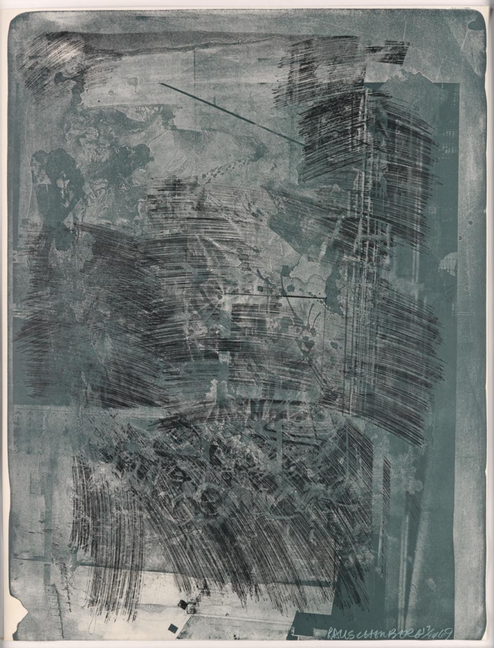 ROBERT RAUSCHENBERG Two color lithographs.