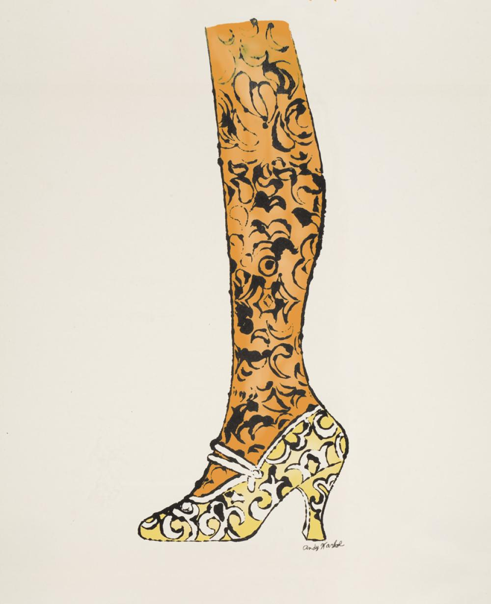 ANDY WARHOL Shoe and Leg.