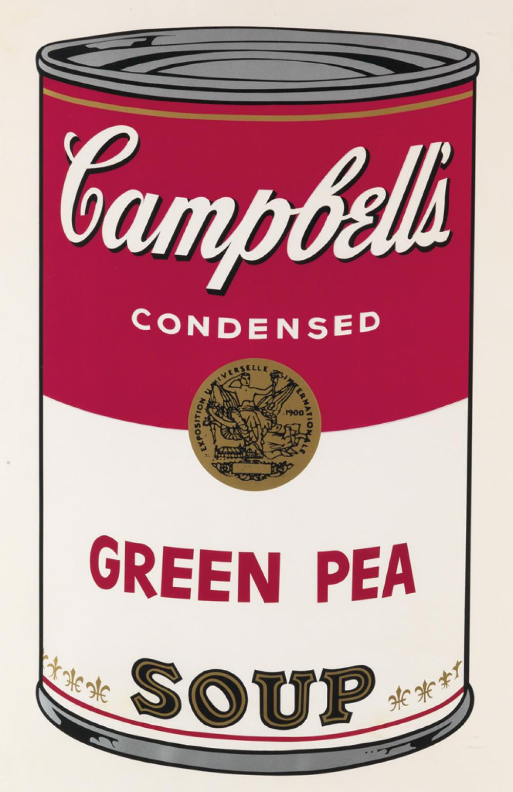 ANDY WARHOL Campbell''s Soup I: Green Pea.