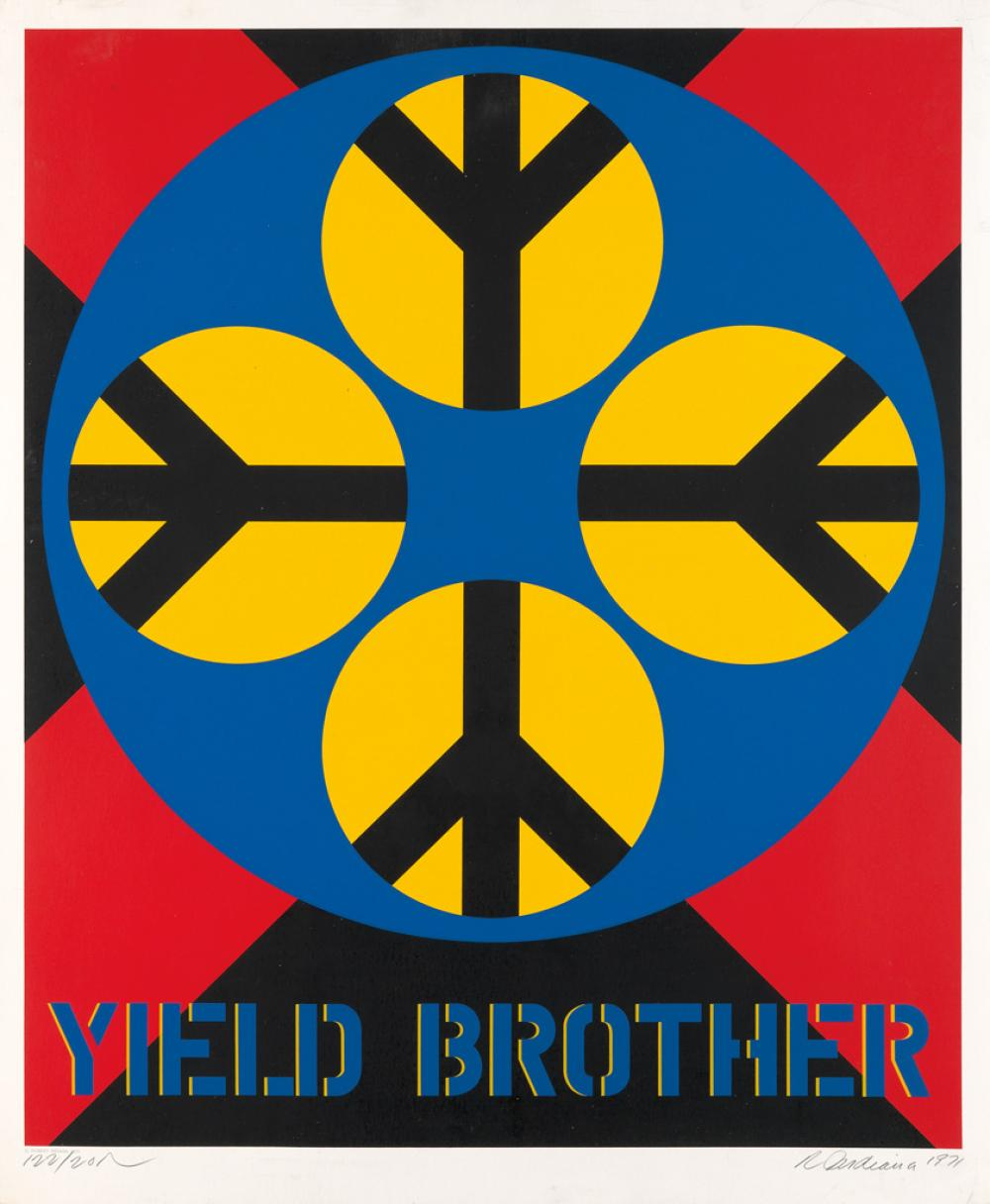 ROBERT INDIANA Yield Brother.
