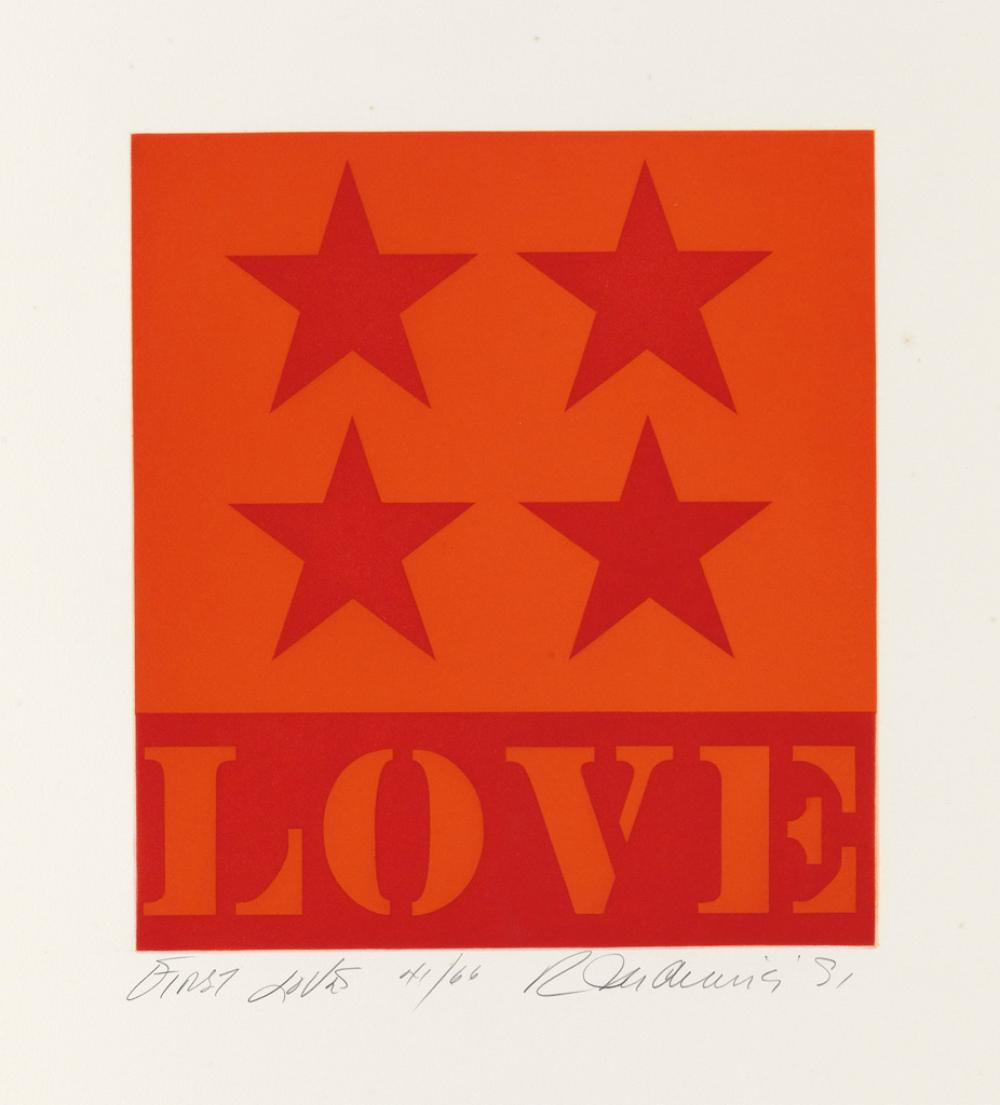 ROBERT INDIANA First Love.