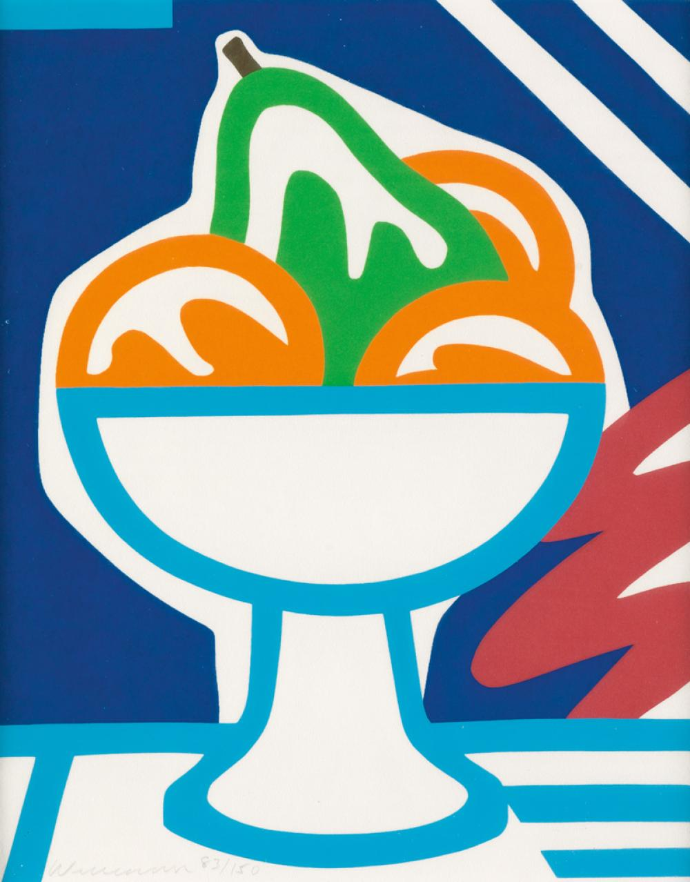 TOM WESSELMANN Still Life with Pear and Oranges.