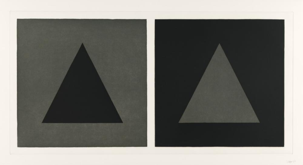 SOL LEWITT Three prints from Doubles in Black and Gray.