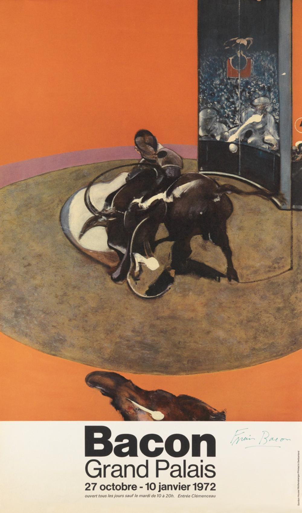 FRANCIS BACON (after) Bacon Grand Palais Poster