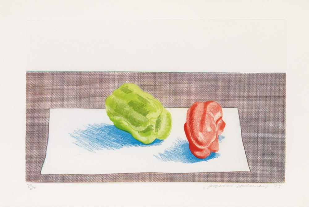 DAVID HOCKNEY Two Peppers.