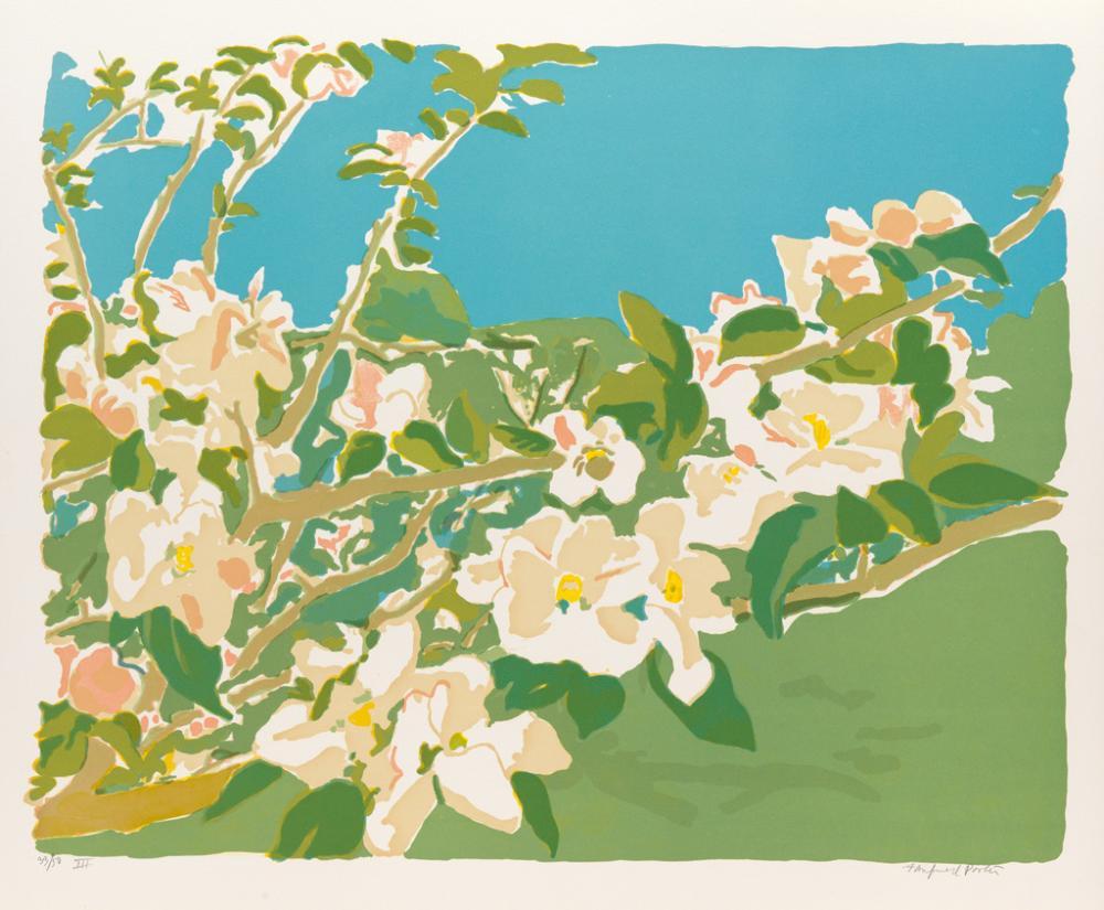 FAIRFIELD PORTER Apple Blossoms I-III.