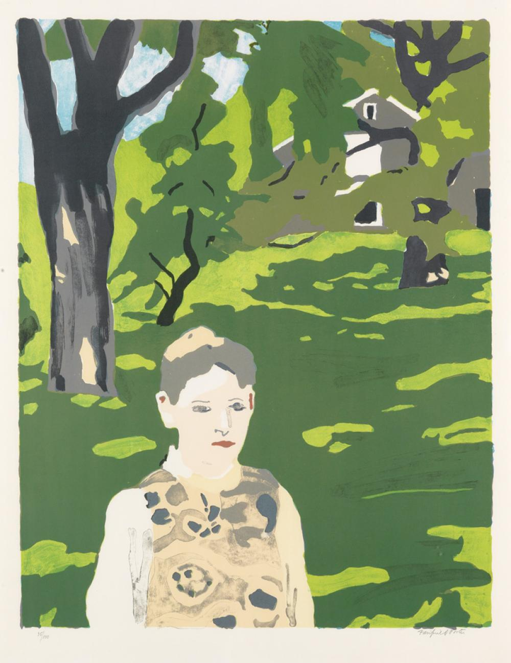 FAIRFIELD PORTER Girl in the Woods.