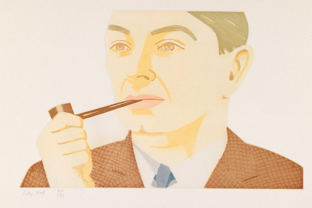 ALEX KATZ Man with Pipe.
