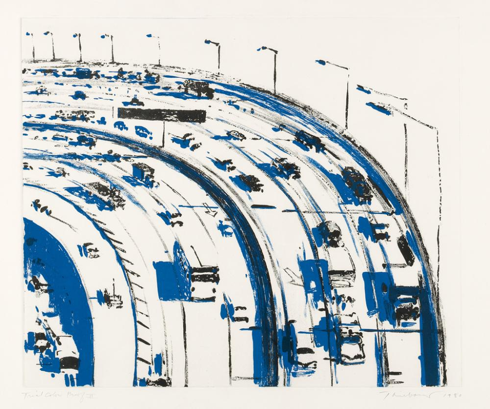 WAYNE THIEBAUD Freeway Curve.