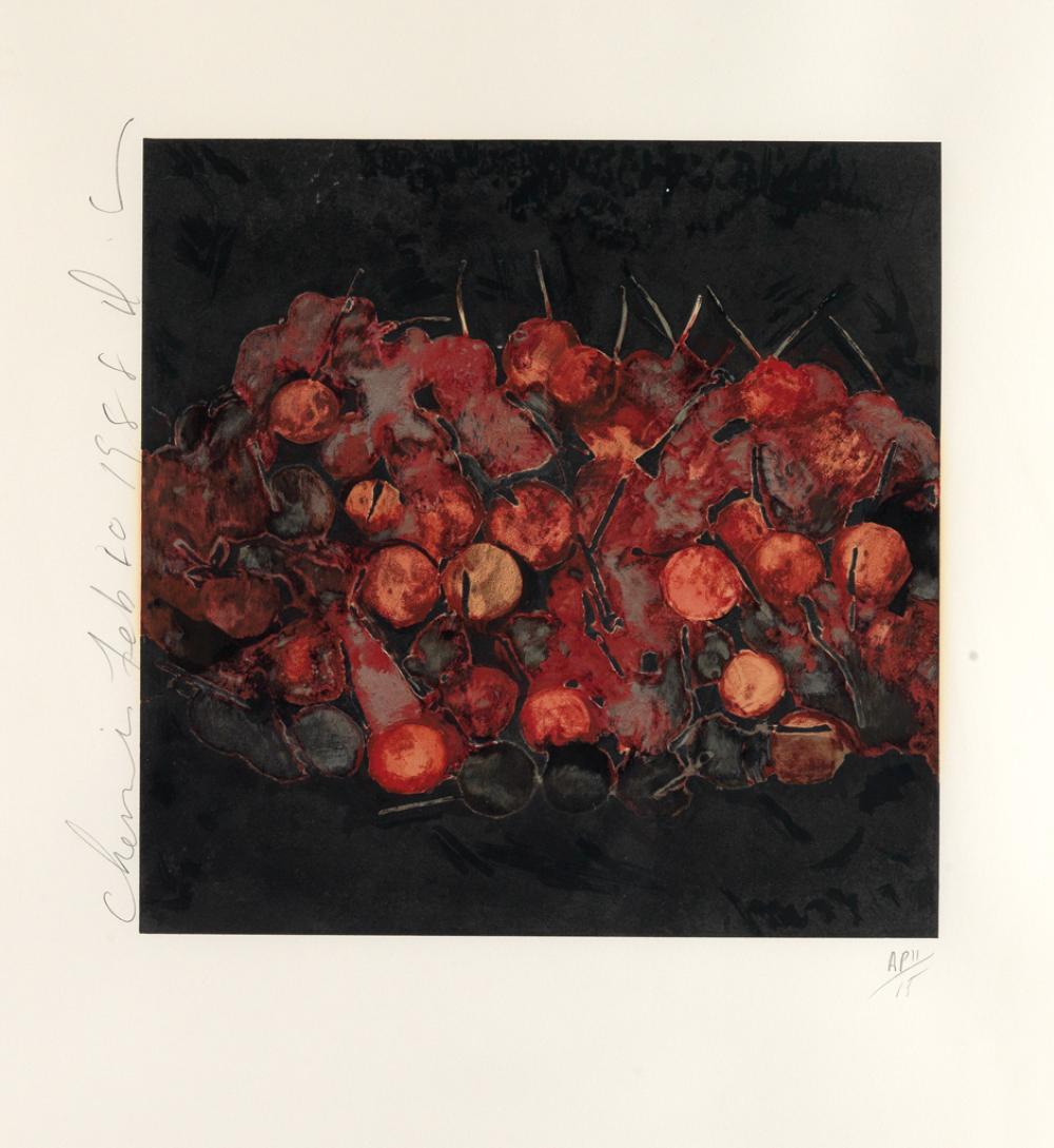 DONALD SULTAN Cherries.