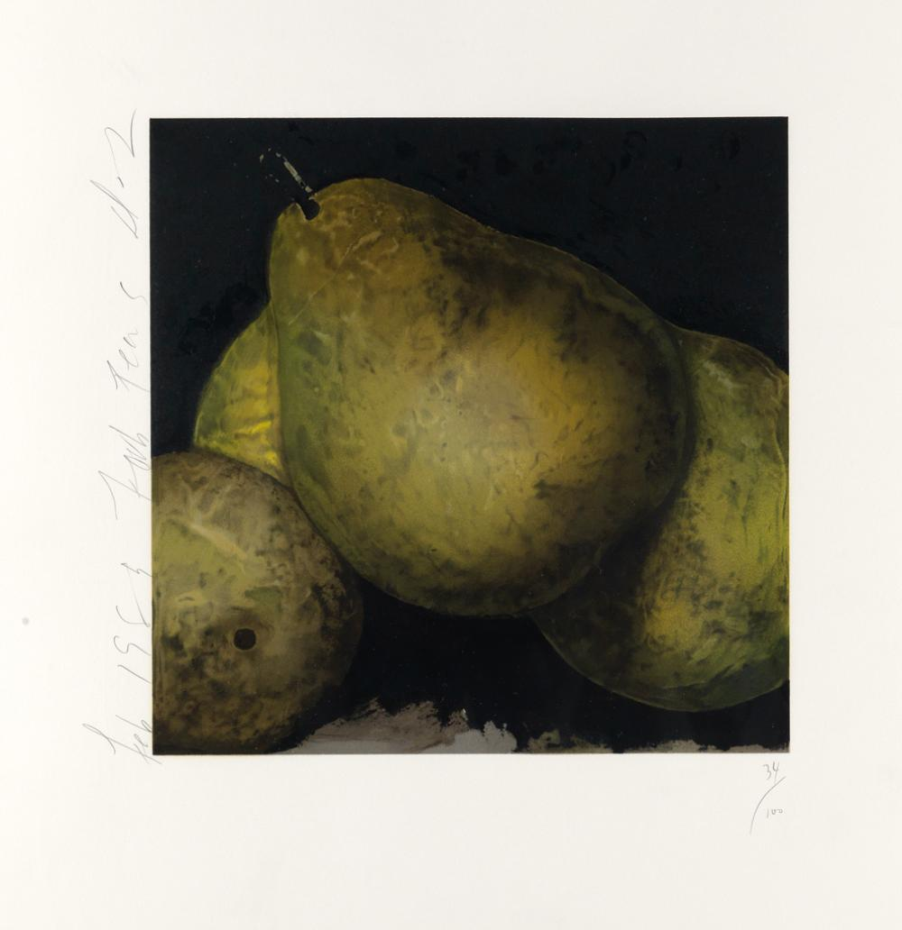 DONALD SULTAN Four Pears.