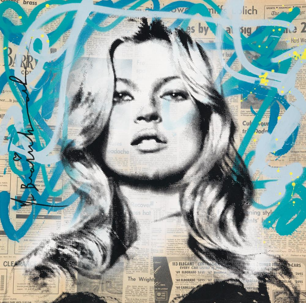 MR. BRAINWASH Kate Moss.