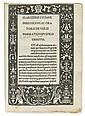 LUCIAN of Samosata; et al. Vera historia [and other texts].  1494