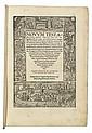 BIBLE IN GREEK AND LATIN.  Novum testamentum omne, tertio iam ac diligentius ab Erasmo Roterodamo recognitum.  2 vols.  1522